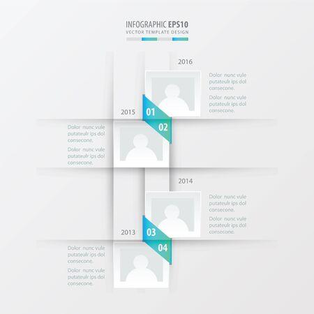 vector timeline design  blue gradient color