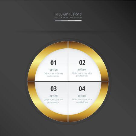 gold color: circle presentation template    gold color Illustration