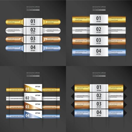 gold silver bronze: banner Gold, Silver, Bronze and blue gradient set