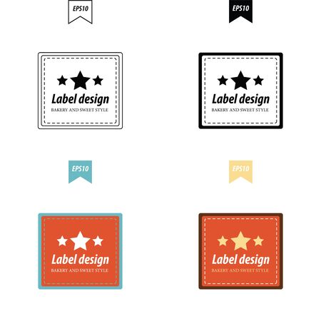 baked goods: label design 4 styles Illustration