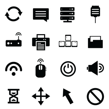 network devices: Computer and network devices Illustration
