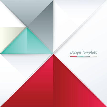 red' green: Template Triangle Design White, red, green, gray