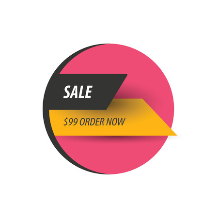 pink and black: Sale Discount design  pink, yellow, black Illustration