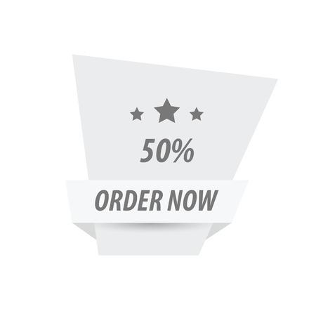 abatement: Order Now Label Design White color
