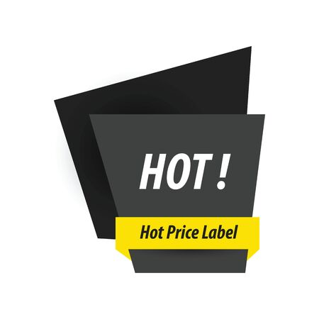 black and yellow: Hot Price Label  black, yellow Illustration
