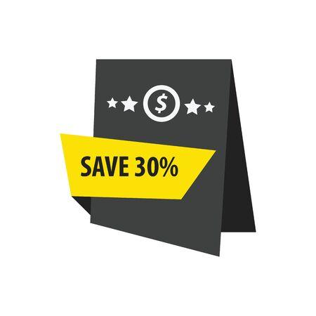 abatement: Label Design  black, yellow Illustration