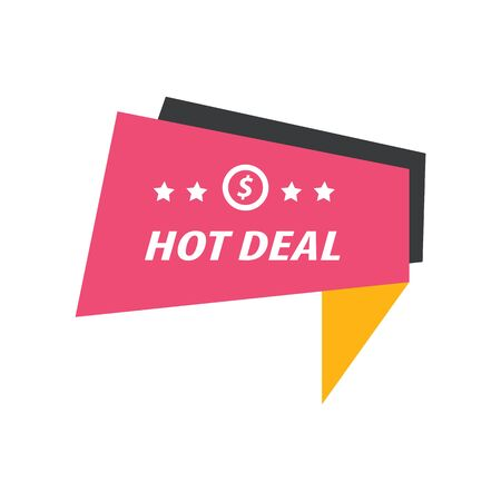 hot deal: Label Hot Deal pink, yellow, black
