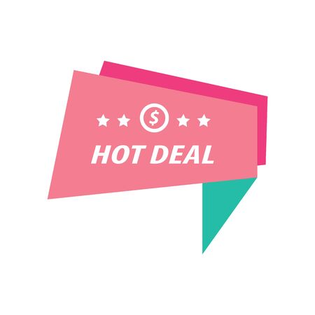hot deal: Label Hot Deal   pink and green