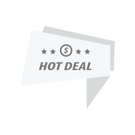 abatement: Label Hot Deal White color