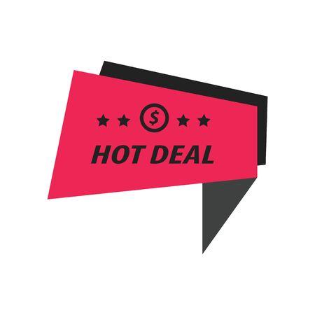 hot deal: Label Hot Deal black, pink Illustration