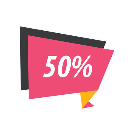 pink and black: fifty percent Label Origami  pink, yellow, black