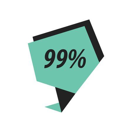 ninety: ninety nine percent label black, Green