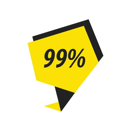 ninety: ninety nine percent label black, yellow