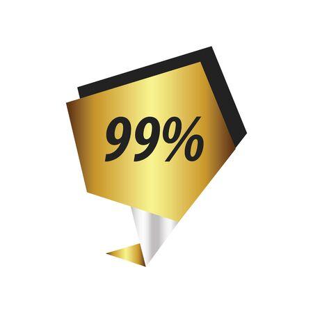 ninety: ninety nine percent label  Gold, silver