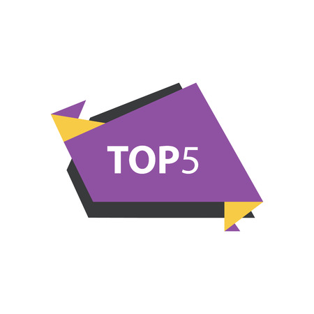 yellow and black: top5 Text in Label  Purple, yellow, black Illustration