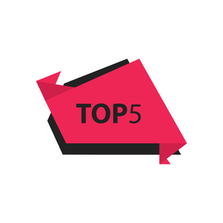 black and pink: top5 Text in Label   black, pink Illustration
