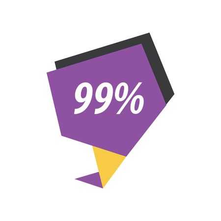 yellow black: ninety nine percent label  Purple, yellow, black