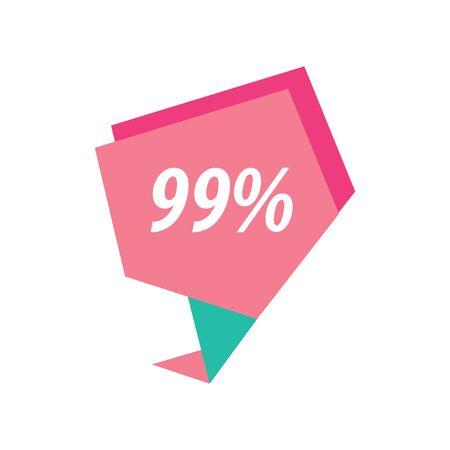 ninety: ninety nine percent label pink and green