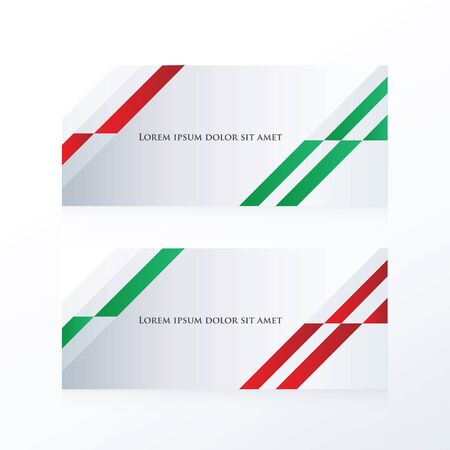 red' green: abstract banner design  red, green