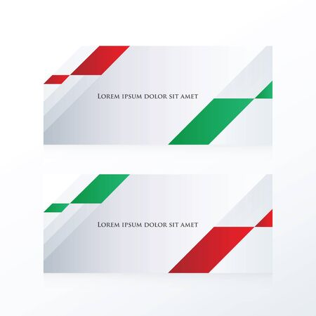 red' green: abstract banner vector  red, green