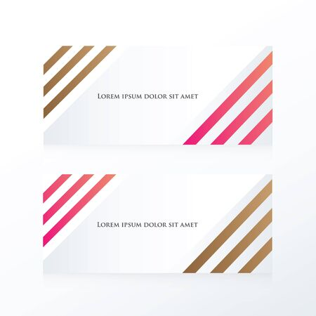 pink brown: line abstract banner  pink, Brown