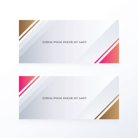 pink and brown: abstract banner triangle pink, Brown Illustration