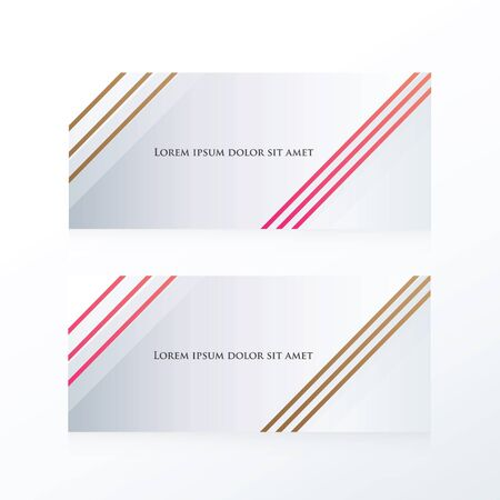 pink brown: abstract line banner  pink, Brown