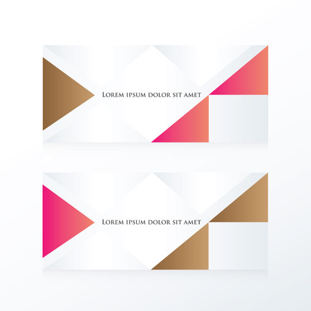 pink brown: abstract banner modern  pink, Brown Illustration