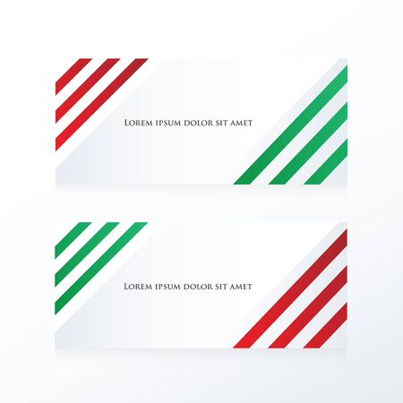 red' green: line abstract banner  red, green