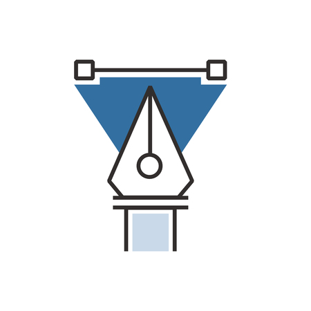 blue pen: triangle Blue pen tool  icon