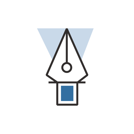 blue pen: vector  Blue pen tool  icon