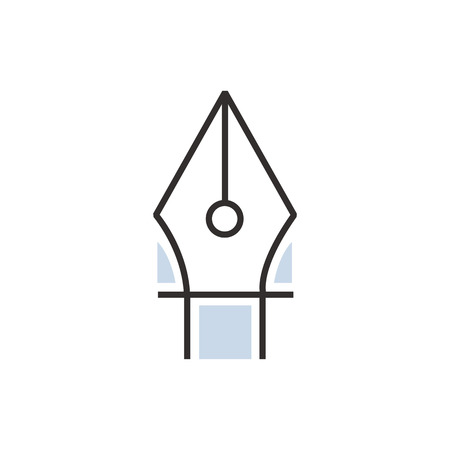 pen tool icon line