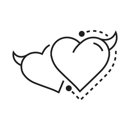 fateful: Twins Line icon Style Heart Devil