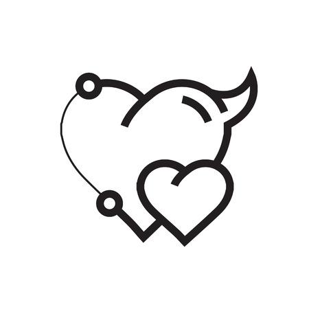 Two Heart Devil Pen tool Style