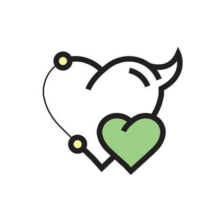 Two Heart Devil Pen tool Style Green