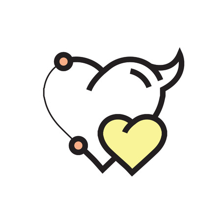 Two Heart Devil Pen tool Style yellow