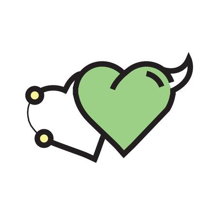 Love Heart Devil Pen tool Style Green