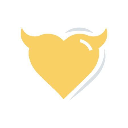 Heart of Devil love flat icon