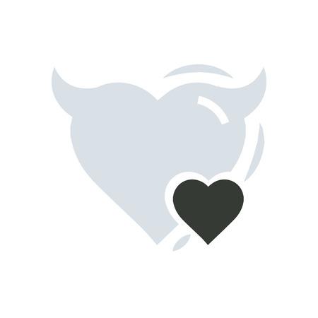 Heart Mini of Devil love Illustration