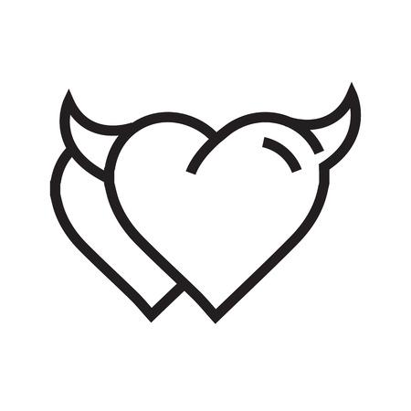 Devil Heart icon twins