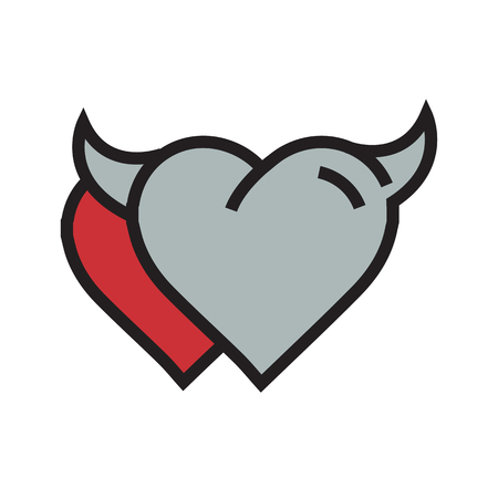 Devil Heart icon twins red