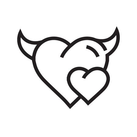 Devil mini Heart icon