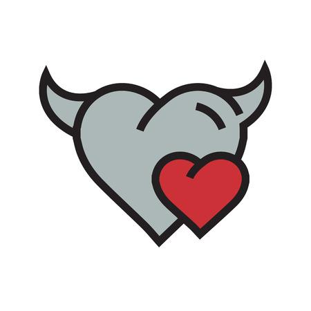 fateful: Devil mini Heart icon red