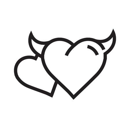 fateful: two Devil Heart icon Illustration