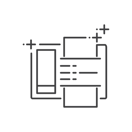 fax machine: Fax machine icon