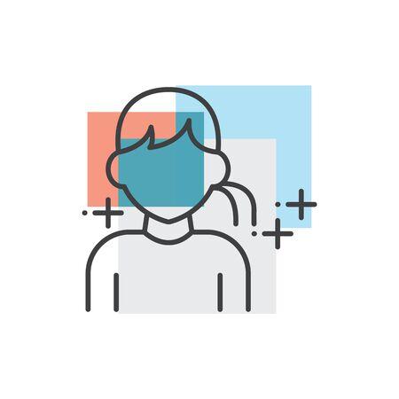 Teen, human avatars icon 3 color