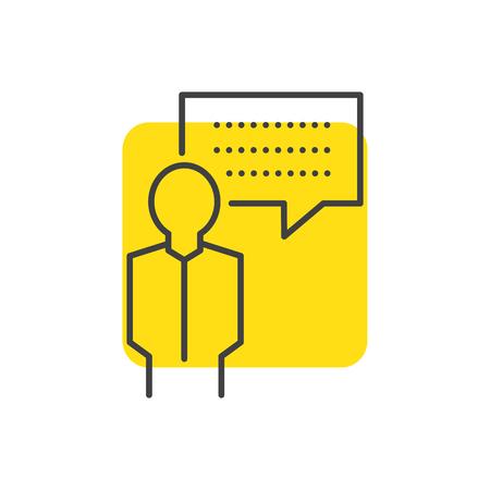 bubble talk BUSINESS yellow mark icon