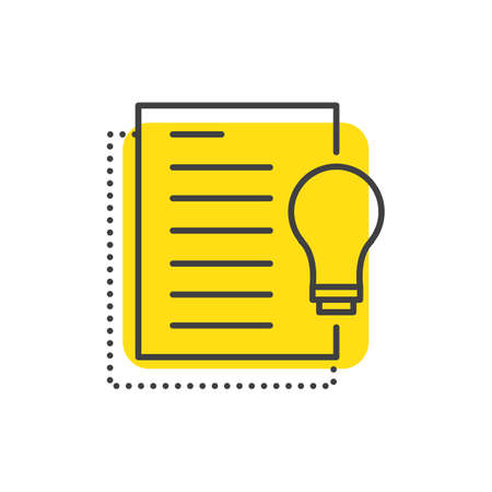 editor: Paper light Line Icon Style.