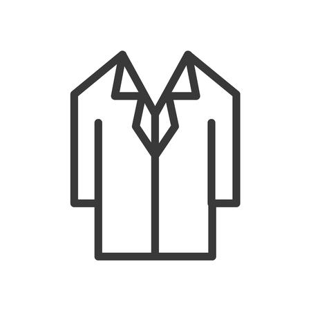 Shirts office uniform vector line icon