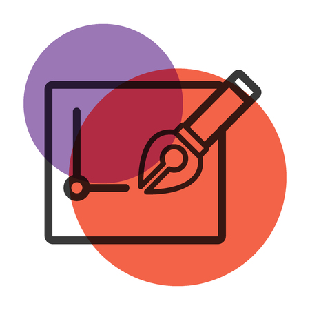 nib: Pen tool and paper stationery office icon color mark